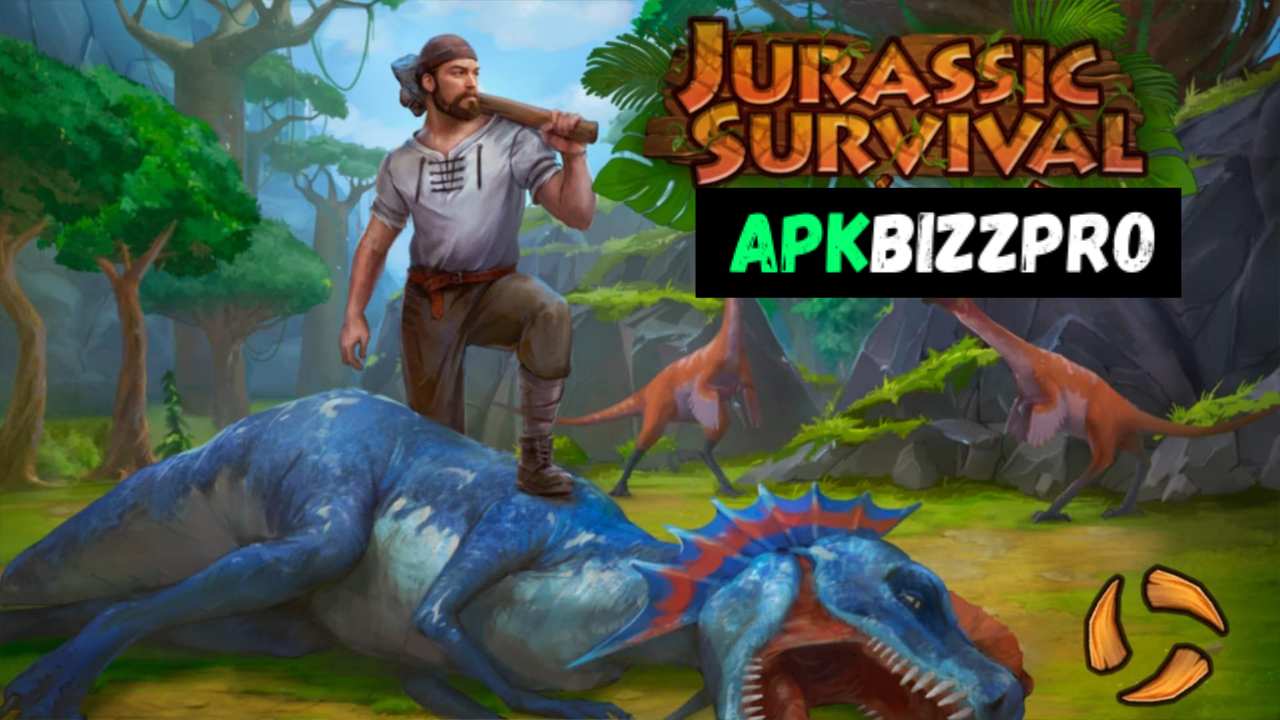 Jurassic Survival mod apk v2.7.0 for Android (Free Craft) Free Download